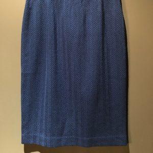 Missoni blue wool pencil skirt elastic waist